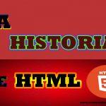 historia de HTML