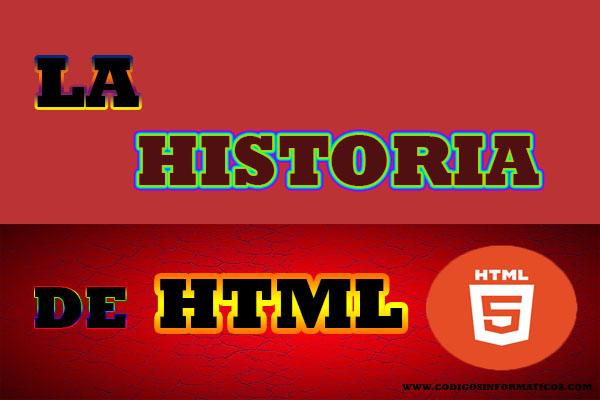 historia de HTML (web).