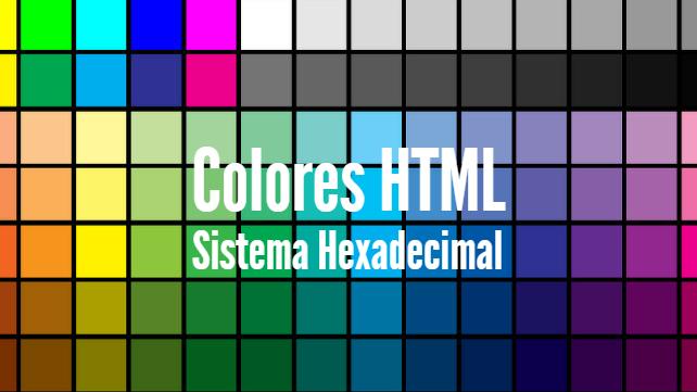 Códigos de colores HTML
