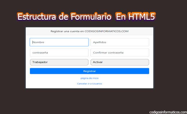 Formularios básicos en HTML