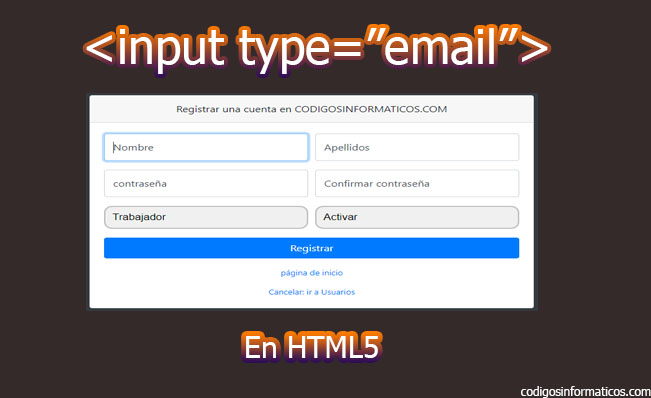 input type email en html