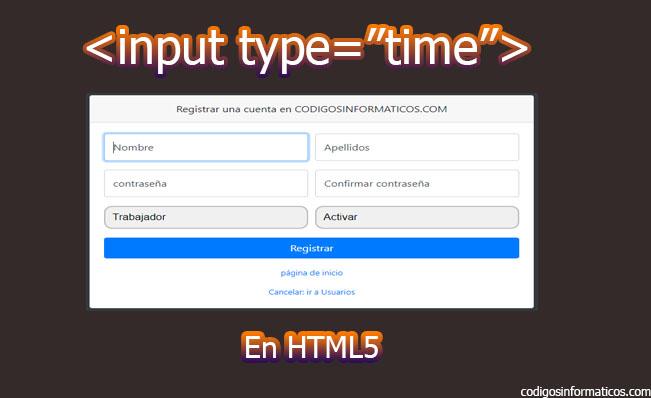 input type time en html