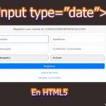 """input type=""""date"""""""