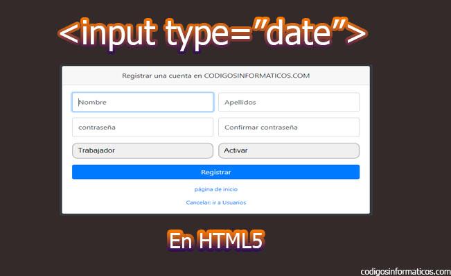 input type date en html