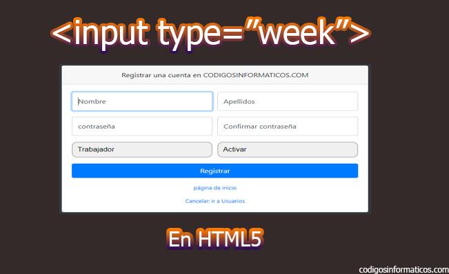 input type week en html