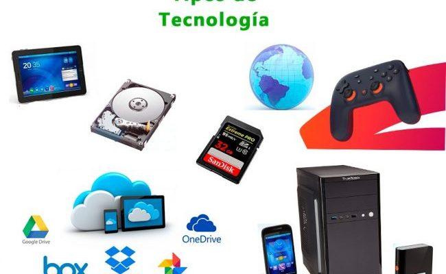 cuántos y cuáles son los tipos de tecnología